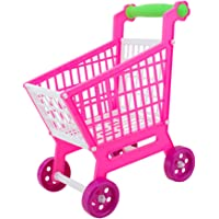 Segolike Miniature Supermarket Shopping Hand Trolley Cart for Kids Role Play Toy