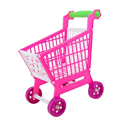 MagiDeal Juguete de Carro Carrito Mano de Compras Supermercado en Miniatura para Niños Papel