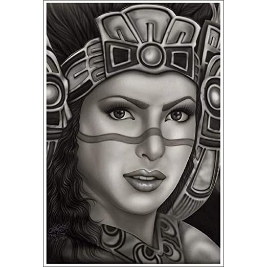 Princesa azteca de Big Ceeze tradicional mexicana diseño de ...