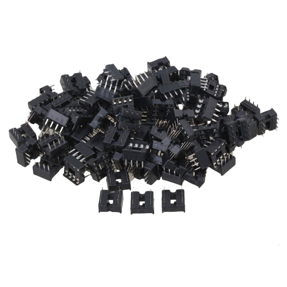 CNBTR Black Plastic 8pin DIP IC Sockets Adaptor for Integrated Circuit Set of 100 yqltd CNBTR52