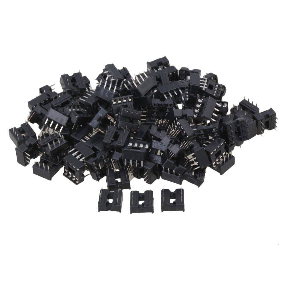 CNBTR Black Plastic 8pin DIP IC Sockets Adaptor for Integrated Circuit Set of 100 yqltd CNBTR52