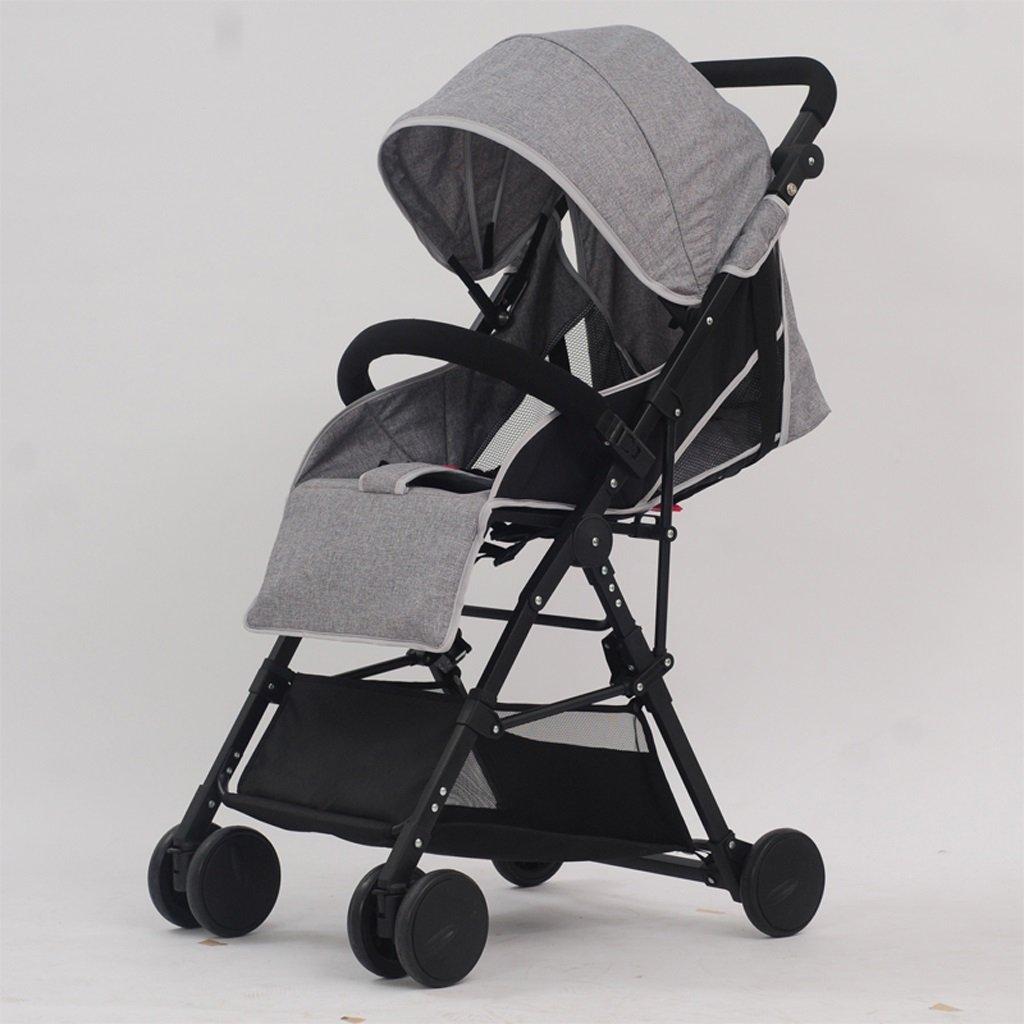 赤ちゃんのベビーカー超軽量ポータブルFoldableは、高地の子供のベビーカー(グレー)(ブルー)(ブルゴーニュ)60 * 98センチメートル ( Color : Gray ) B07BTKT1NB