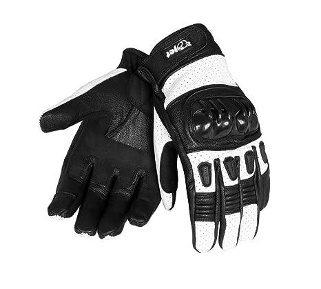 Schwarz, L Jet Motorradhandschuhe Herren Sommer Leder Touchkompatible Fingerspitzen Handkn/öchelprotektor Bel/üftung KOBI