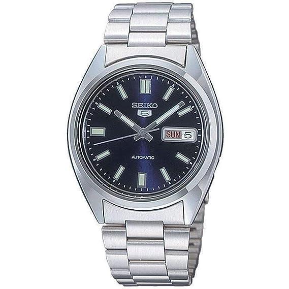 67e7fb12b366 Seiko Reloj Analógico Automático para Hombre con Correa de Acero Inoxidable  - SNXS77  Seiko  Amazon.es  Relojes
