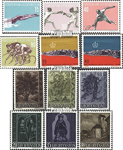 Liechtenstein 365-376 (Complete.Issue.) Volume 1958 completeett 1958 Sports, World Exhibition, Trees, Christmas (Stamps for Collectors) Sports Other (Christmas 1958 Tree)