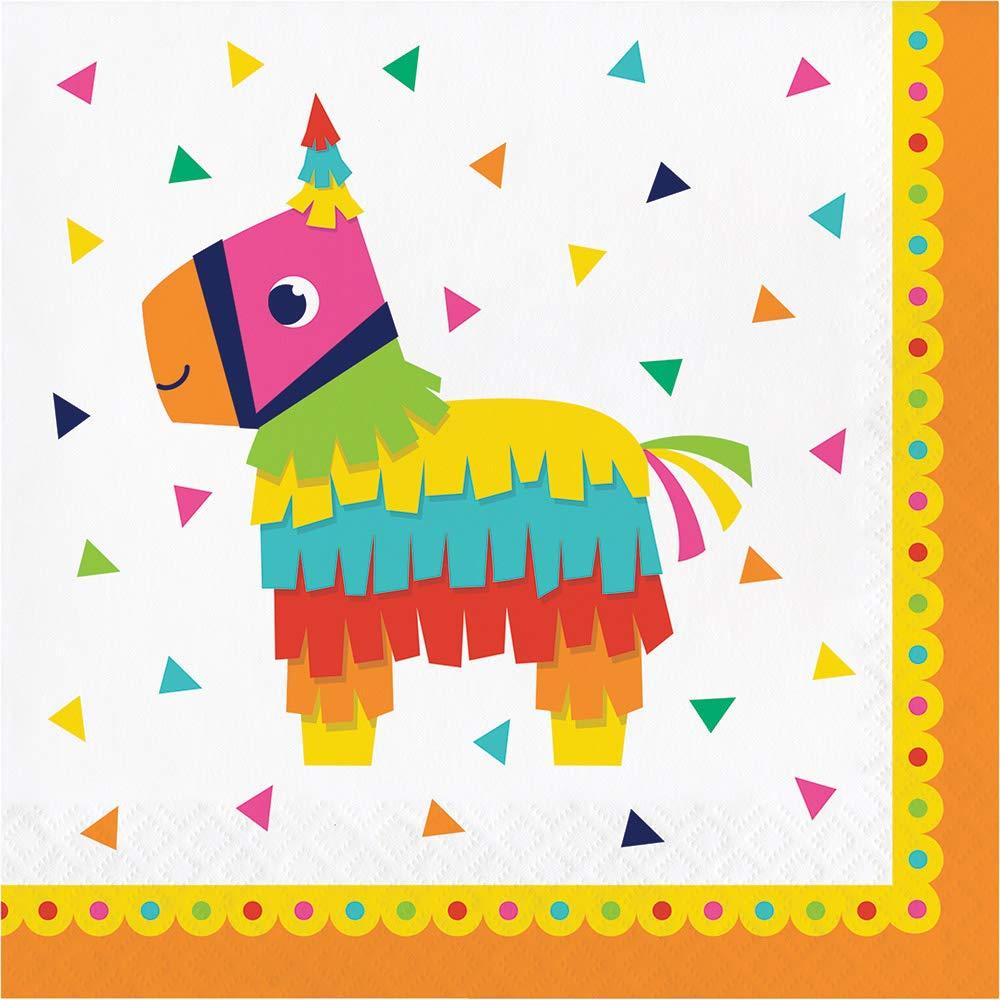 16 Count Creative Converting Fiesta Fun Pinata Lunch Napkins
