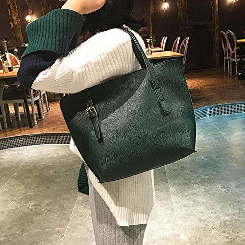 Widewing Handbag Card Bag PU Green Bag Women Color 4pcs Fashion Set Shoulder Solid Clutch RxwZRq0fr