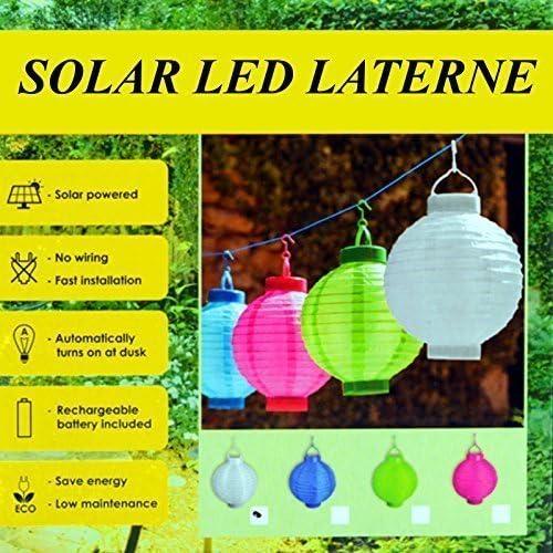farolillos de papel solar LED, 4 colores Ø20, farolillos para el jardín - set ahorro serie de 4: Amazon.es: Hogar
