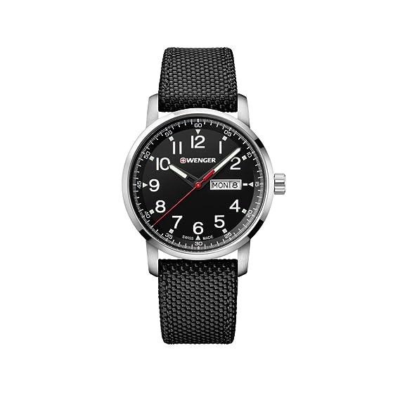 WENGER Reloj Analogico para Unisex de Cuarzo con Correa en Nailon 01.1541.105: Amazon.es: Relojes