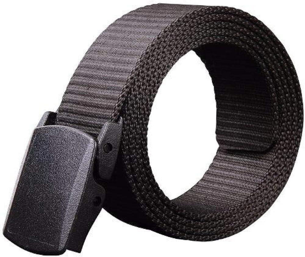 Cinturón de lona para hombre para deportes al aire libre, nailon sin hierro, hebilla de metal, cinturón casual de tela