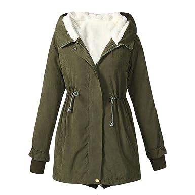 Bestfort Warm Mantel Damen Komfort Wolle Jacke Wintermantel