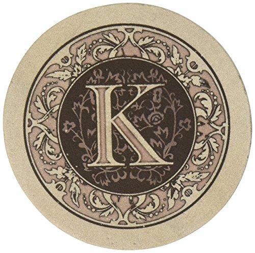 Thirstystone Drink Coaster Set, Monogram (Stone Letters)