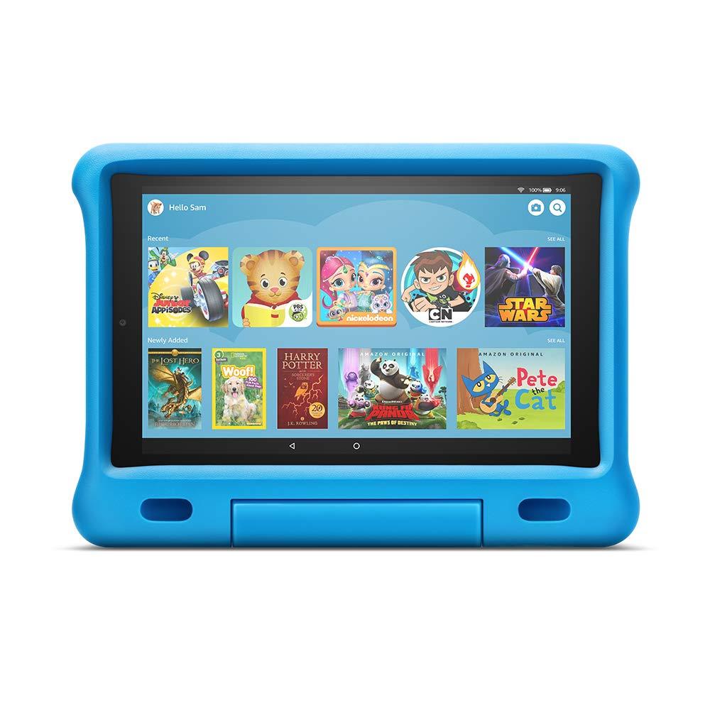AllNew Fire HD 10 Kids Edition Tablet  101 1080p full HD display 32 GB Blue KidProof Case