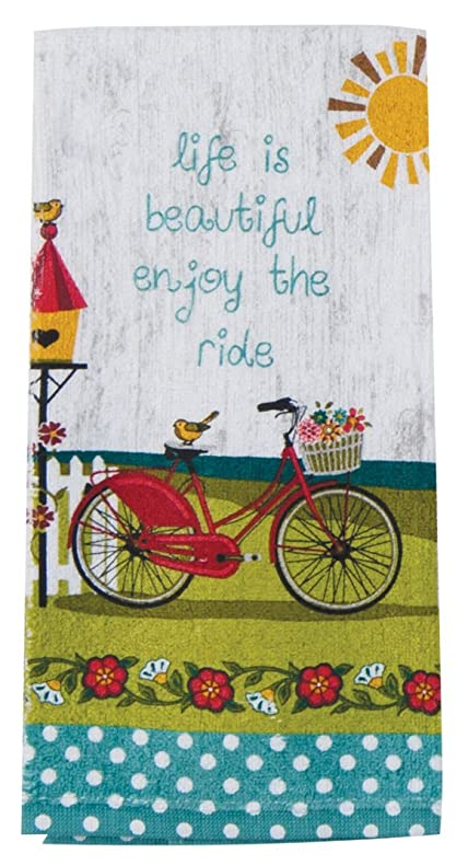 Kay Dee Designs R3200 Enjoy The Ride Bicycle Terry Towel