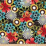 Michael Miller Contemporary Florals Flower Shower Clementine Fabric By The Yard