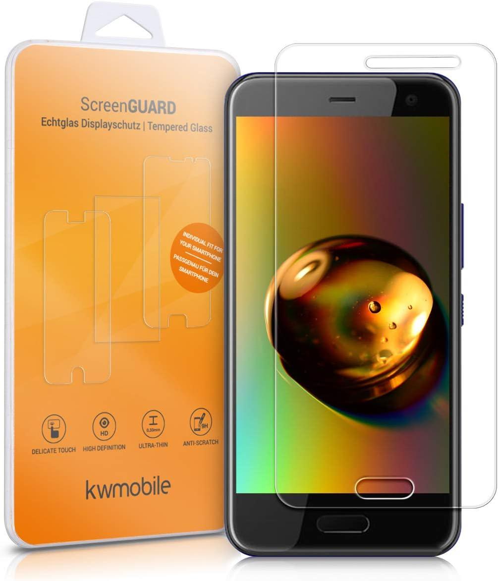 kwmobile 2X Protector de Pantalla Compatible con HTC U11 Life: Amazon.es: Electrónica