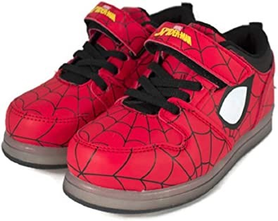 Toddler//Little Kid Favorite Characters Spiderman Motion Lighted Athletic Shoes