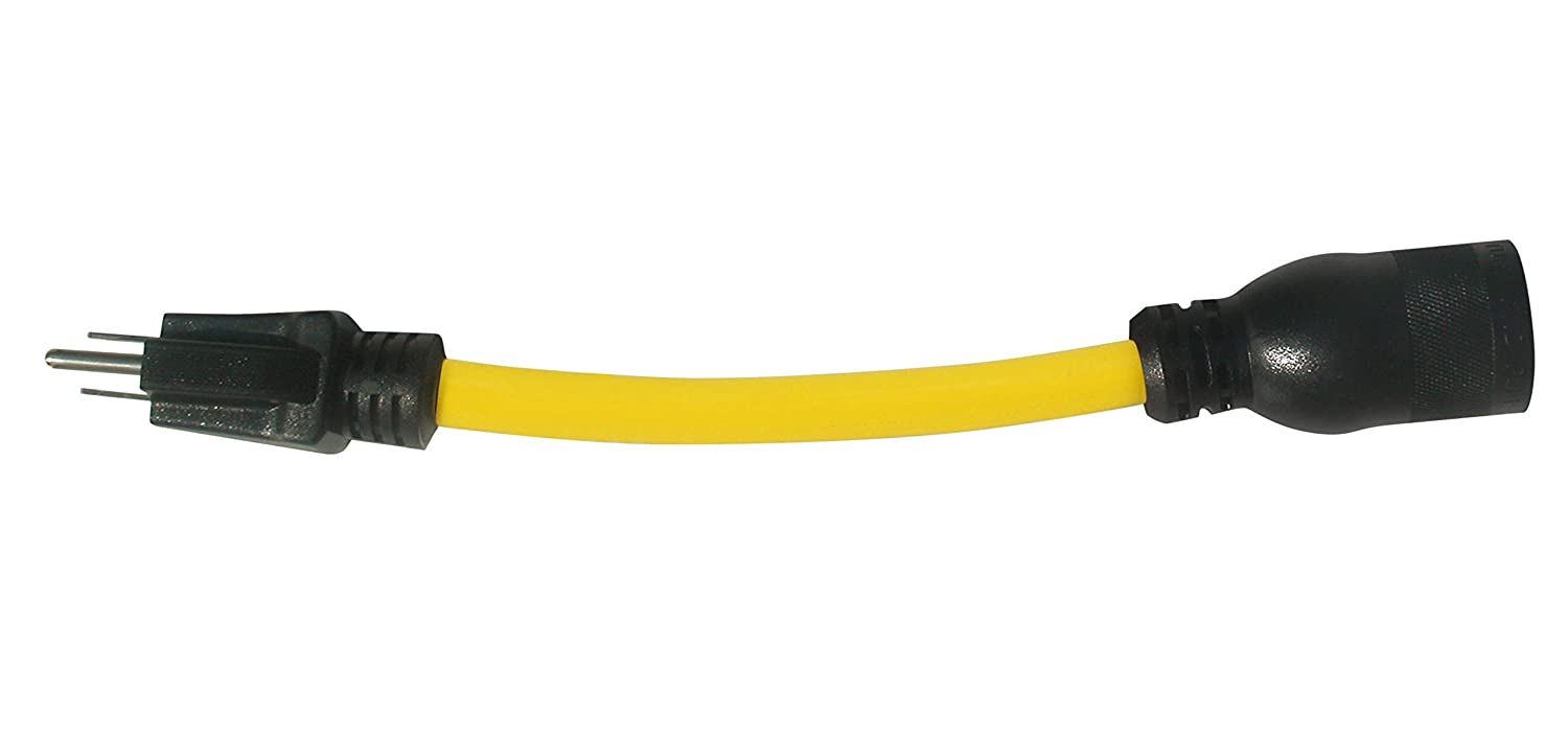 Yellow Prime Wire and Cable PrimeAD110801L 1-Feet 12//3 STOW U-Ground to Twist Adapter