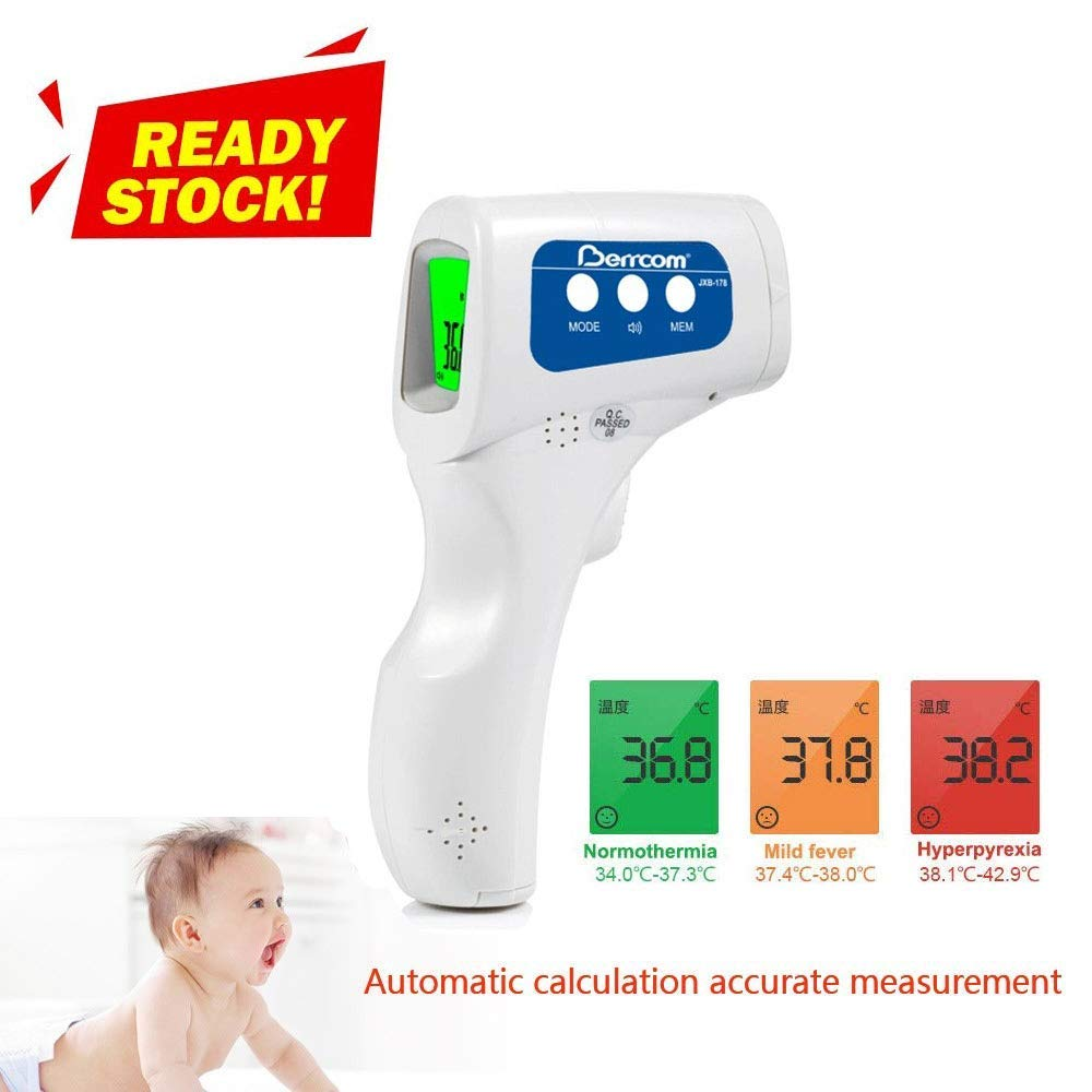 3 in 1 Non-Contact Forehead Thermometer Kid and Adult Infrared Digital Thermometer to Measure Body Temperature of Baby Co-Branding Package US Stock