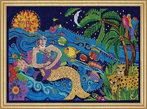 Design Works Counted Cross Stitch Kit - Laurel Burch Mermaid ()