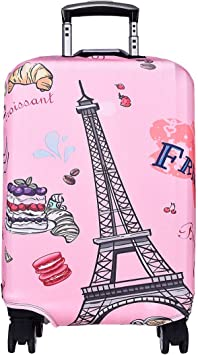 Dont Forget To Smile Travel Luggage Cover Stretchable Pulling Cloth Suitcase Protector Fits 18-20 Inches Luggage