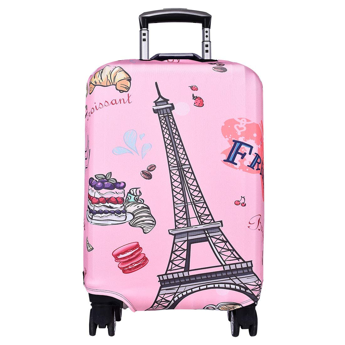 Travel Luggage Cover Anti-scratch Baggage Suitcase Protector Cover Fits 18-32 Inch 3D Colorful Pattern(Eiffel tower)