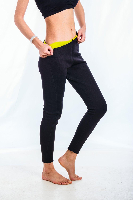 Ausom Womens Slimming Neoprene Hot Thermo Long Pants Yoga Leggings Latex Waist Girdle Cincher Trainer Sweat Body Shapers Best Shapewear Sauna for Weight Loss