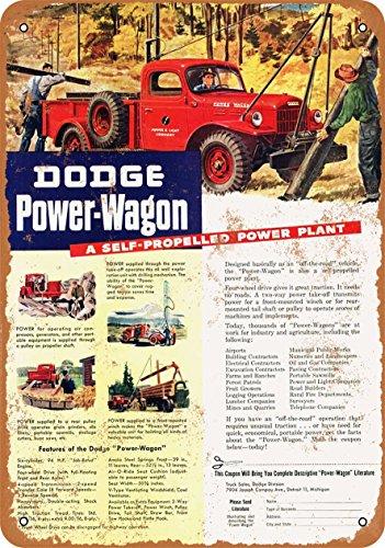 Wall-Color 10 x 14 Metal Sign - 1946 Dodge Power-Wagon - Vintage -