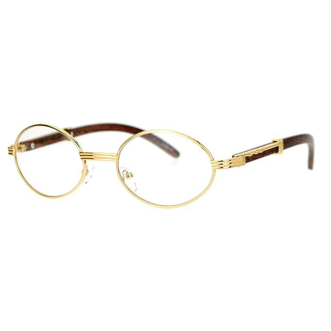 Amazon.com: Gafas de lentes transparentes, unisex, diseño ...