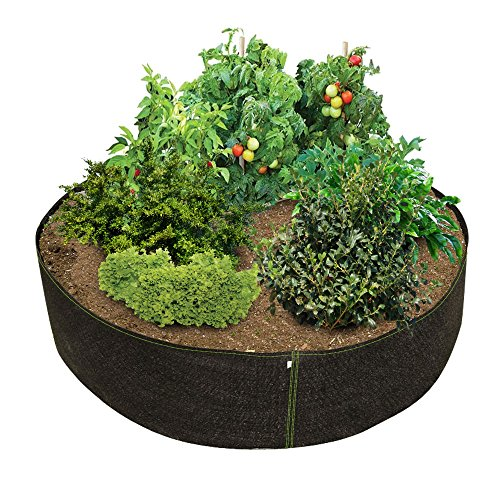 Phat Sacks 70-Inch Big Fabric Raised Garden Bed - 26.6 Square Foot by HTG Supply
