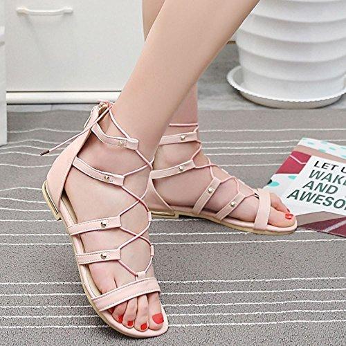Pink Melady Classico Donne Gladiator Flats nxgPOSHq