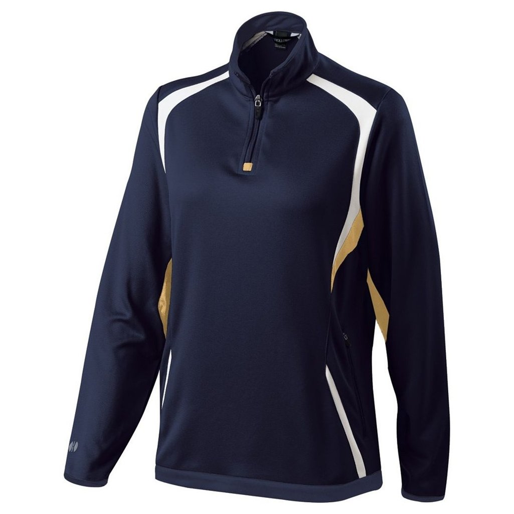 Holloway Ladies Dry Excel Transform Pullover (Large, Navy/Vegas Gold/White) by Holloway