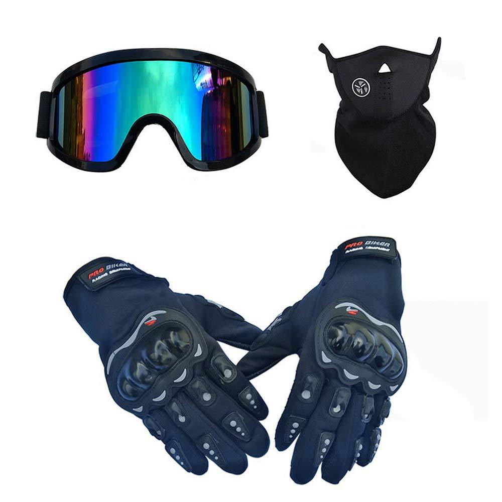 LEWWB Adult Motocross Helm Set mit Brille Handschuhe und Maske Cross-Country-Motorradhelm und Mountainbike-Off-Road-Helm Unisex Sport Reithelm MTB Integralhelme Schutzhelm