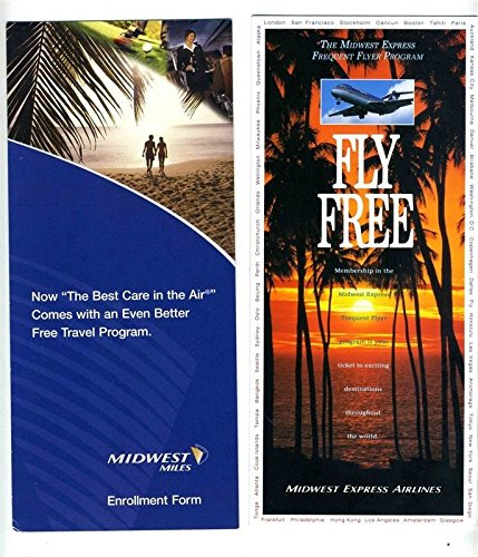 Midwest Express Airlines - Midwest Express & Midwest Airlines Frequent Flyer Brochures
