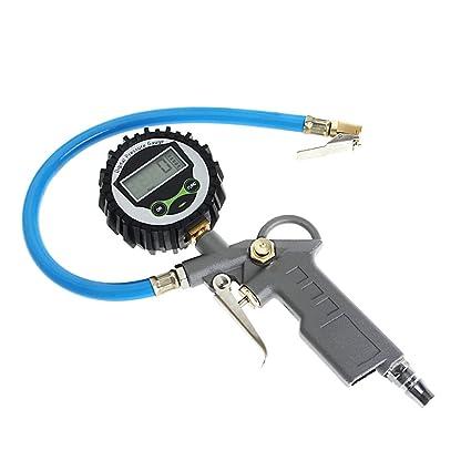 Digital Air Tire Pressure Inflator Gauge LCD Display Meter Vehicle Tester