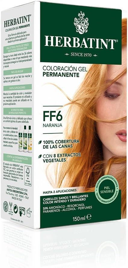 Herbatint Tinte Naranja FF6-150 gr: Amazon.es: Salud y ...