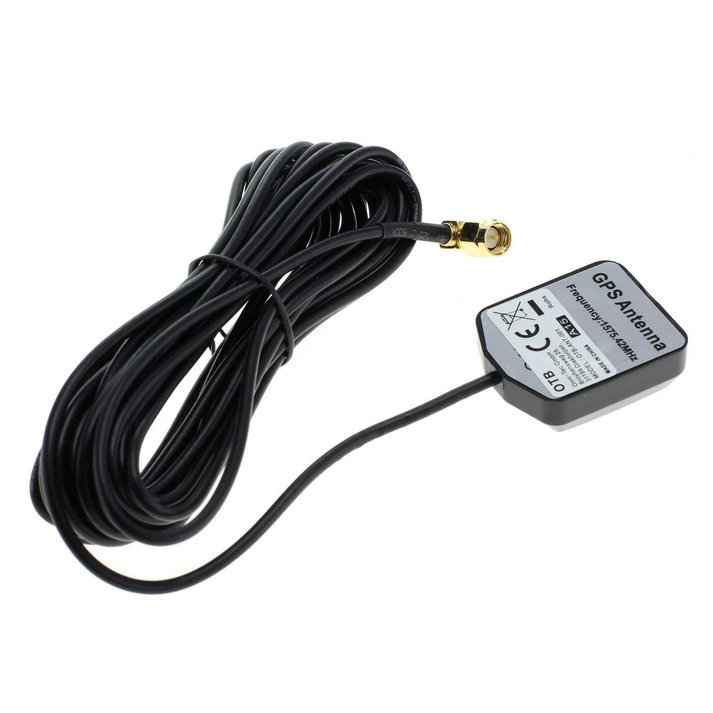 OTB 8002614 - Antenna GPS con attacco SMA e base magnetica, angolo di 90° , colore: Nero angolo di 90° Onni-Tec GmbH