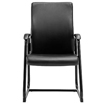 Set de 2 sintética conferencia silla mid-back silla de oficina de ...