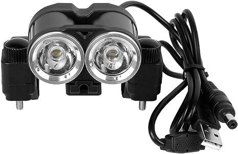 Luces LED Bicicleta Delantera Impermeable con 2 Focos WEINAS ...