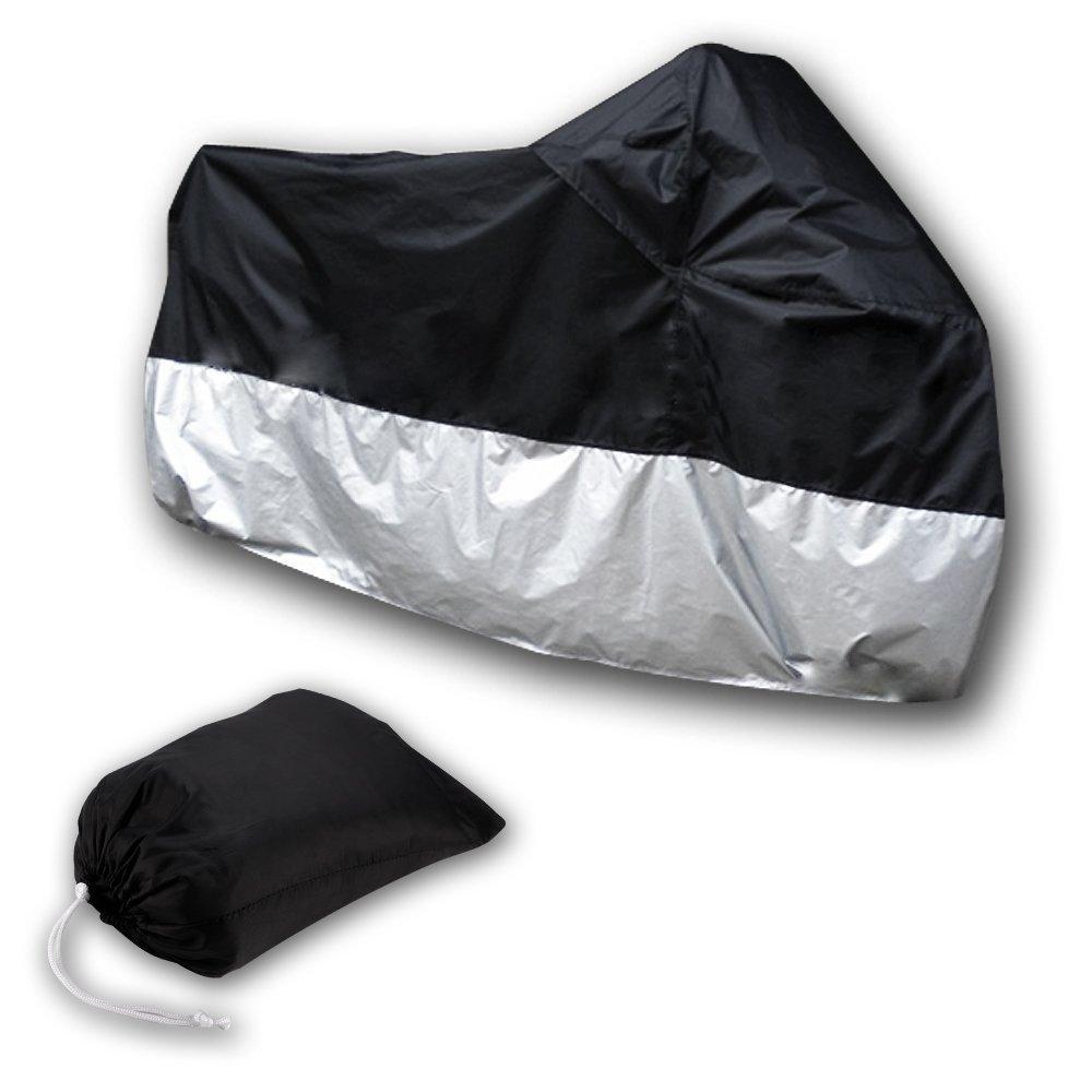 Cikuso Motorcycle Bike Moped Scooter Cover Waterproof Rain UV Dust Prevention Dustproof Covering XXL Black