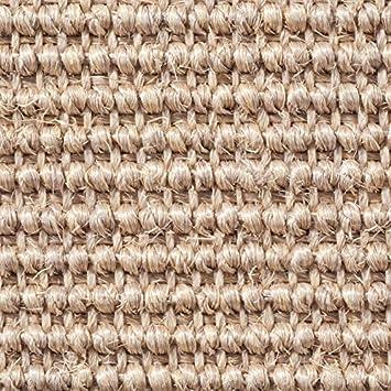 Teppichboden Auslegware Gr/ö/ße: 1 Muster 400 cm Breite Sisal Naturfaser Schlinge grau Meterware verschiedene Gr/ö/ßen