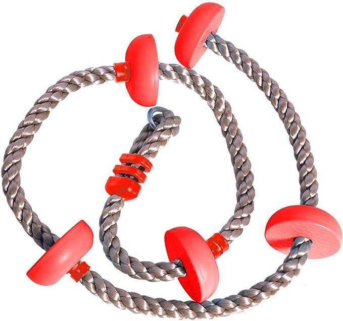 Cuerda de escalada con columpio para niños con plataformas ...