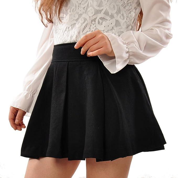 427285f2d May&Maya Women's Wool Fabric Gathered Mini Skirt: Amazon.ca ...