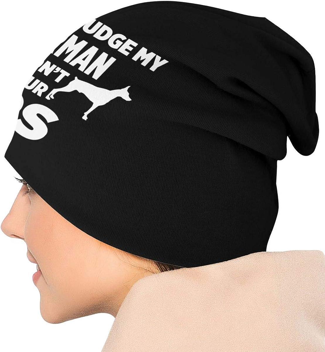 JINGUImao Don/â/€/™t Judge My Doberman I Won/â/€/™t Judge Your Unisex Warm Hat Knit Hat Skull Cap Beanies Cap