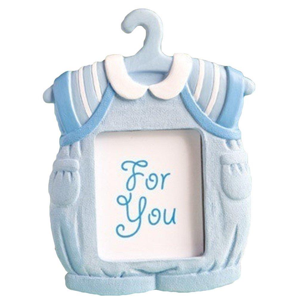 Blue Braceus Cute Mini Dress Shape Photo Frame Baby Kids Birthday Synthetic Resin Photo Frame size 7cm9cm