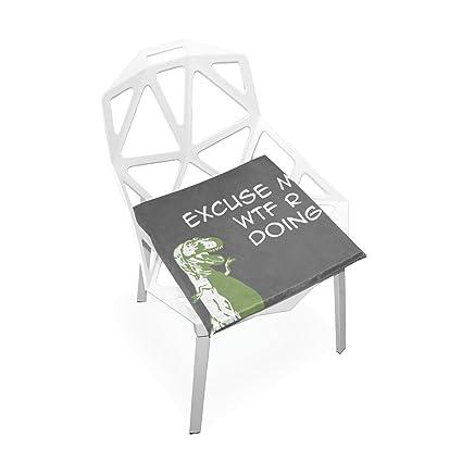 Amazon.com: doenr lindo dinosaurio cojín de asiento cojines ...
