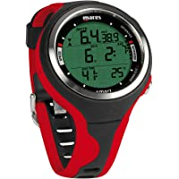 Mares Smart Wrist Dive Computer For Scuba Diving and Spearfishing (Black/Red)