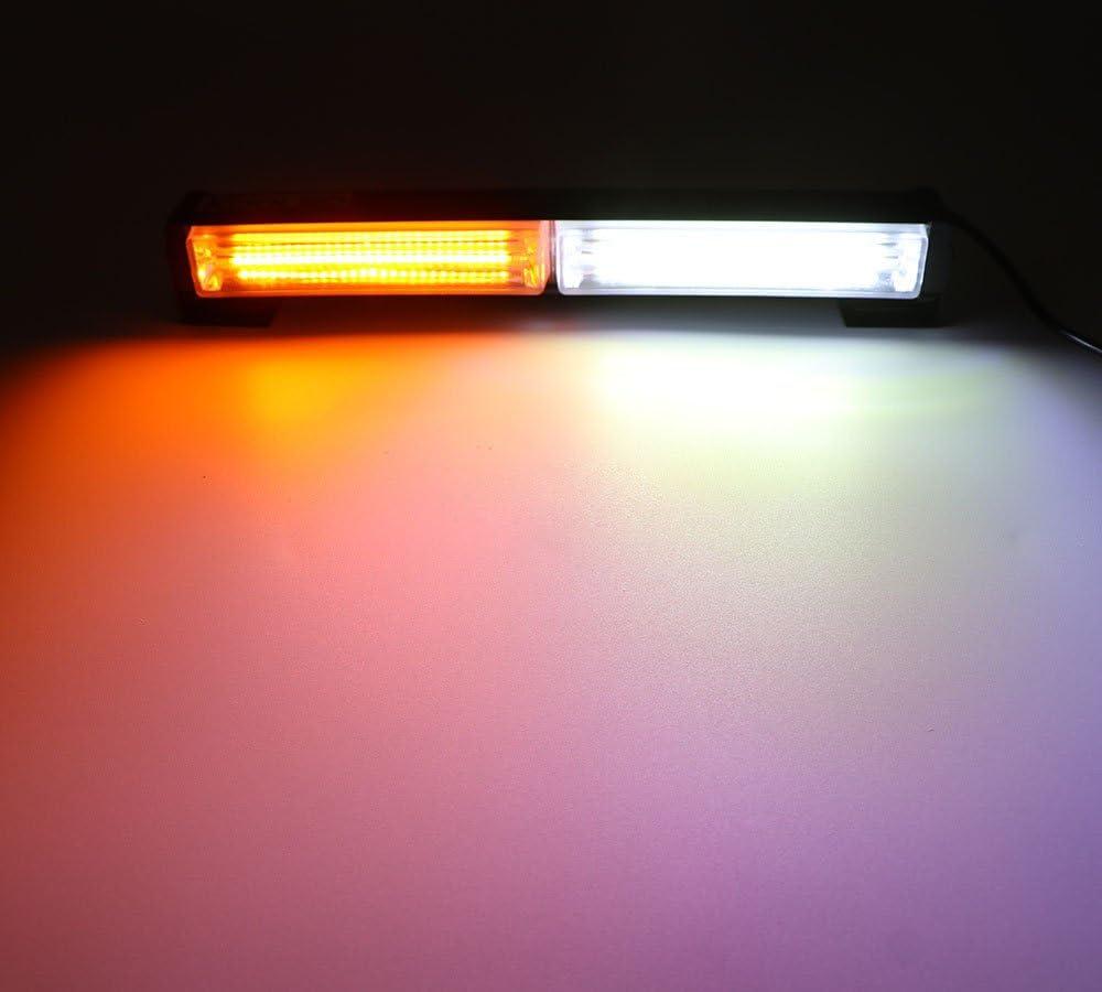 Gelb Auto Blitzer HEHEMM Frontflitzer 36W COB 12-24V Blitzlicht Notlichtleiste f/ür LKW