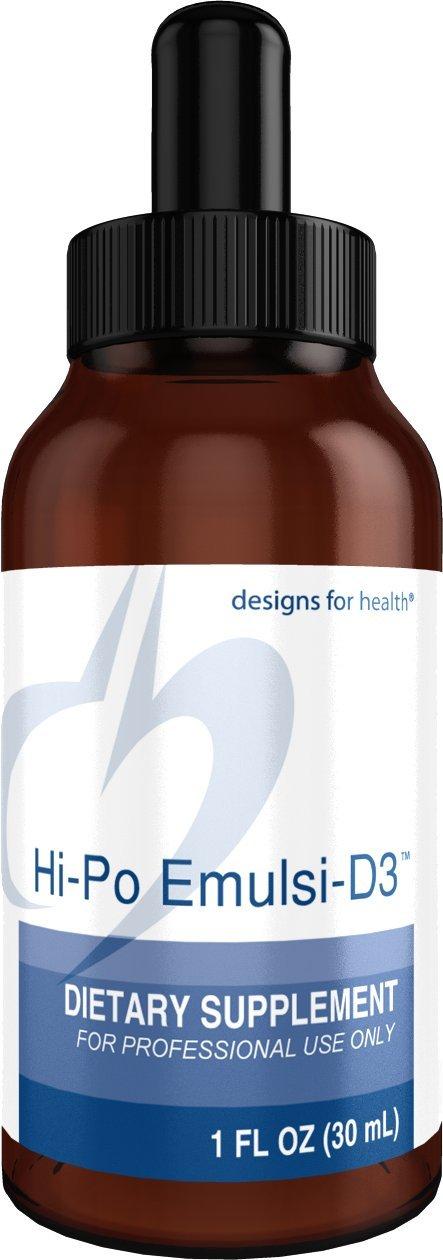 Designs for Health - Hi-Po Emulsi-D3 - 2000 IU Bioavailable Liquid Vitamin D, 1oz.