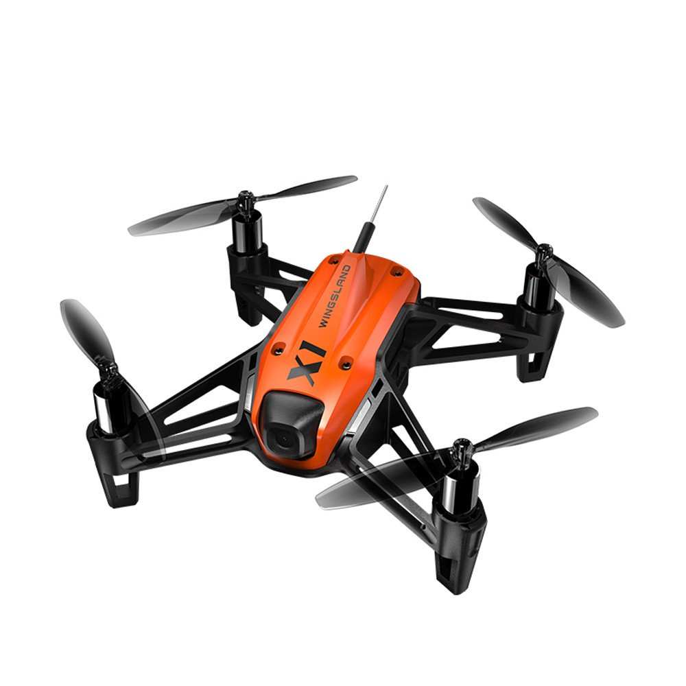 WINGSLAND X1 Mini Racing Drone Toys with Indoor Hovering, 360 ° Flipping - 2.4G Remote Control FPV RC Quadcopter Toys with HD Camera,Gbell UAV Toy Birhday Gifts for Adults Kids Girls Boys 14+ (Orange)